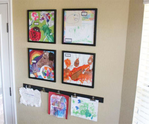 Displaying Kids&#8217; Artwork