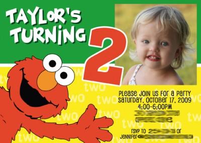 Elmo Birthday Invitations Template