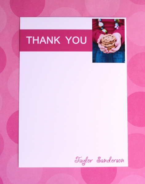 Cookies and Milk Thank You Notes