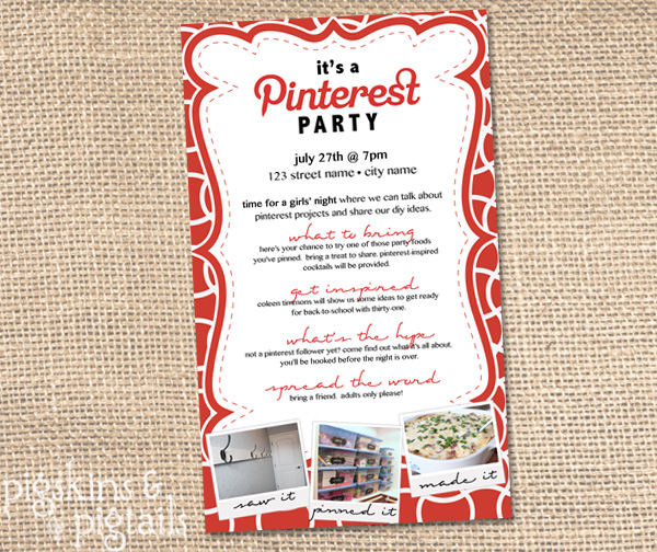 Party foods on pinterest party invitations ideas for Pinterest invitation
