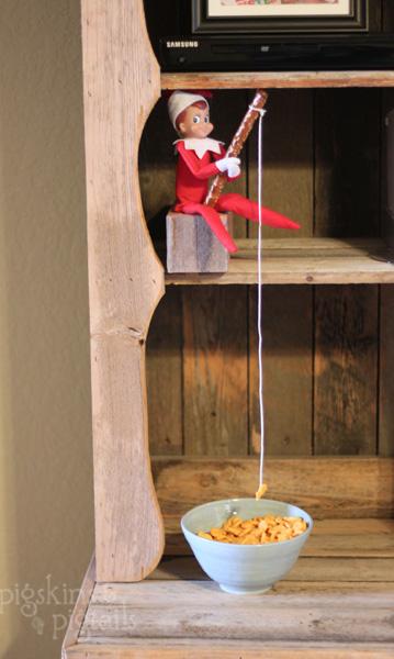 25 elf on the shelf ideas pigskins pigtails for Elf on the shelf fishing