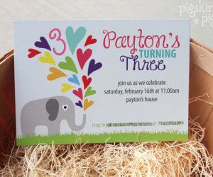 Elephant Theme 3rd Birthday Party