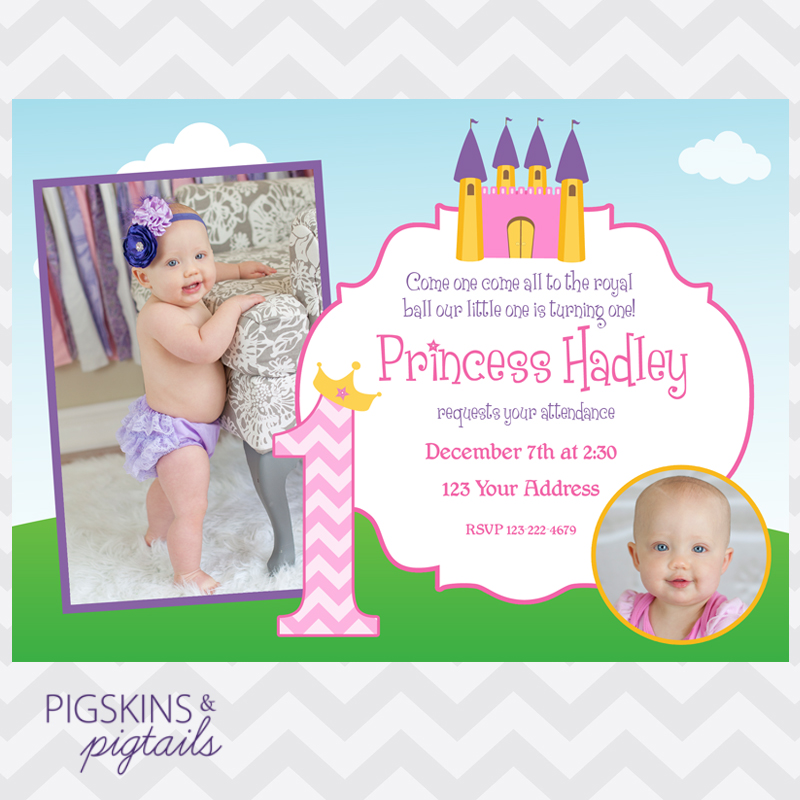 Princess 1St Birthday Invitations can inspire you to create best invitation template
