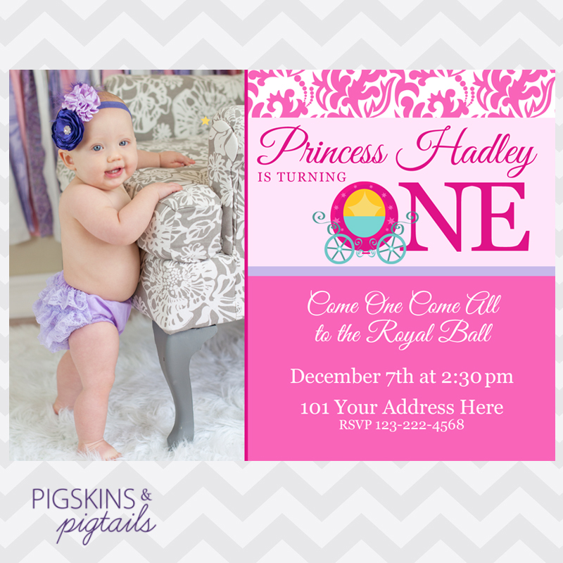 Princess 1St Birthday Invitations and get inspiration to create nice invitation ideas