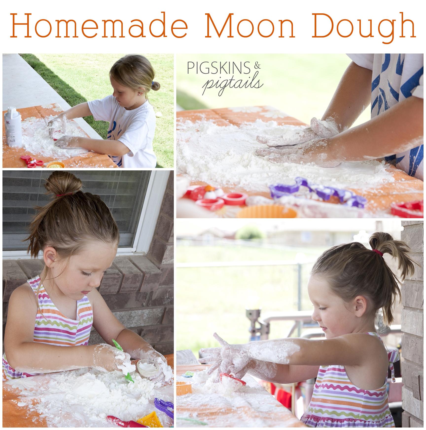 Homemade Moon Dough