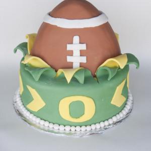 Oregon Football Fan Cake