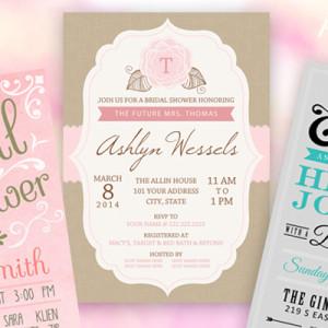 3 Pretty Bridal Shower Invitations