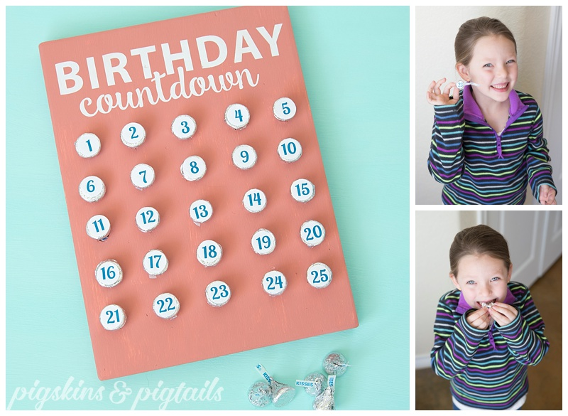 Birthday Countdown Hershey Kiss Calendar