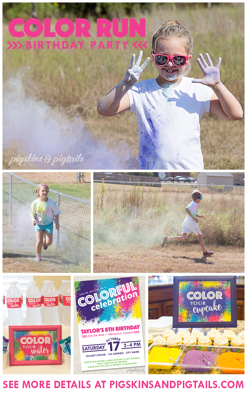 Color Run Birthday Party Theme Idea