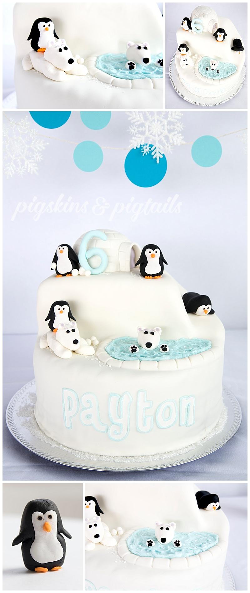 Penguin Polar Bear Party Cake