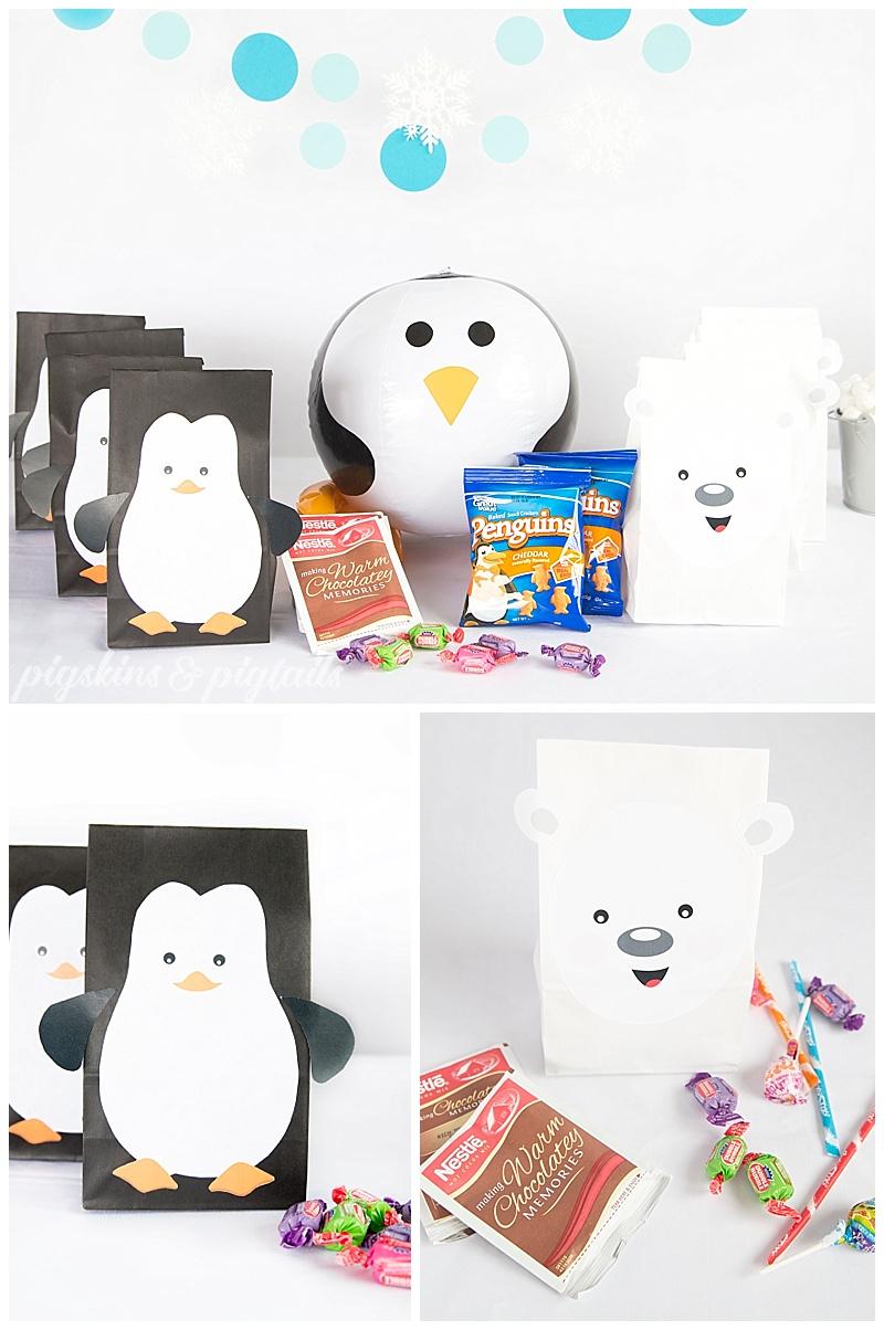 Penguin Polar Bear Birthday Party Theme Favors