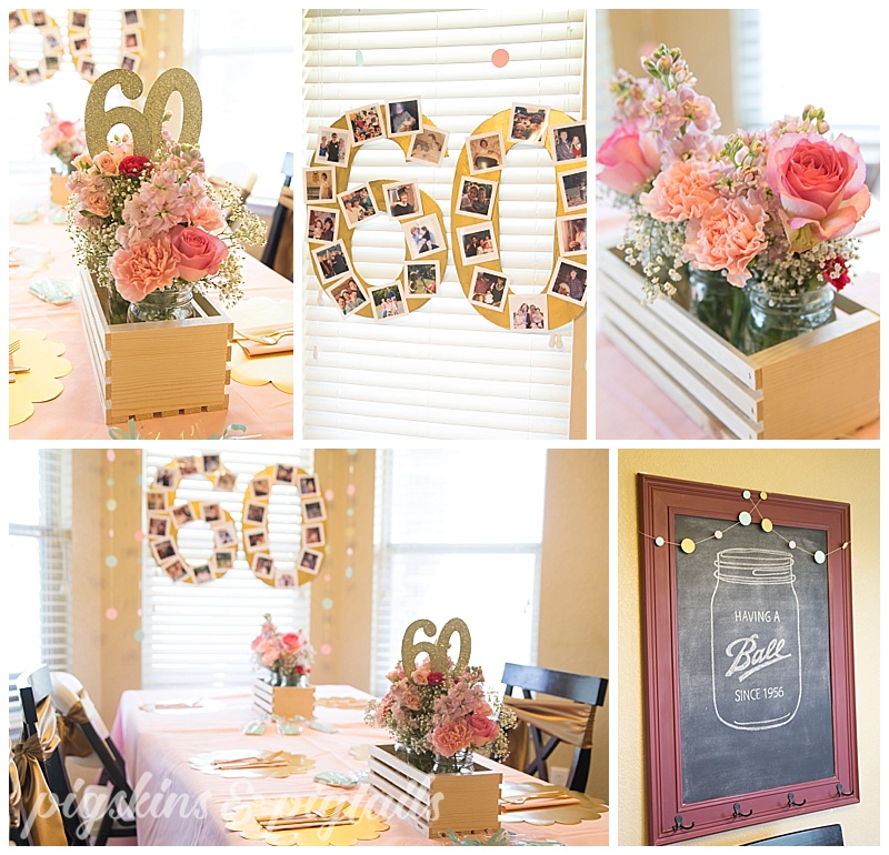 60th birthday photo idea chalkboard