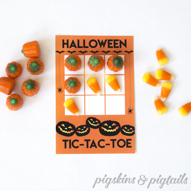 Halloween Tic Tac Toe Printable