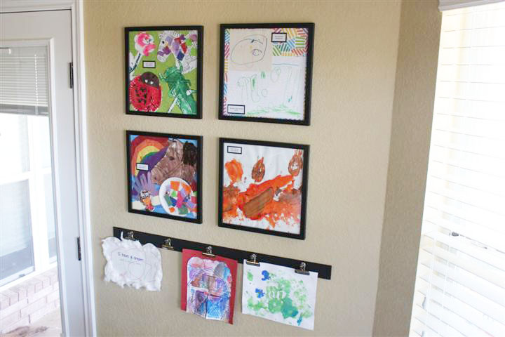 Displaying Kids' Artwork