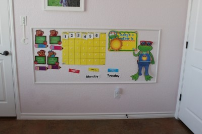 Magnetic Wall {Kid's Room}