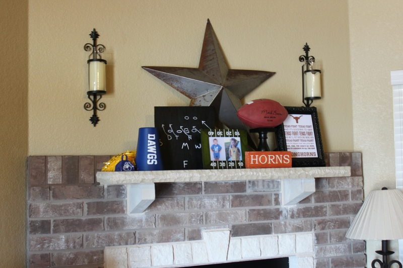 Football Season Mantel