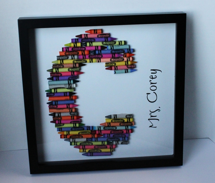 Crayon Letters {Teacher Gift Idea}