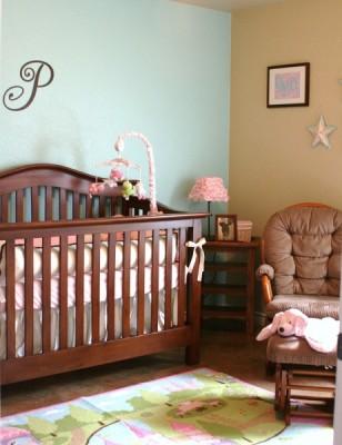 Baby Girl Nursery and DIY Cornice Board