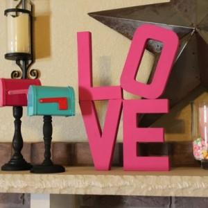 Valentine's Theme Mantel