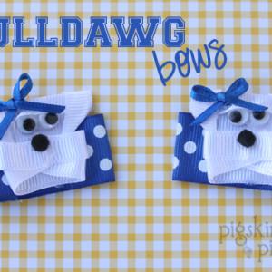 Bulldawg Hair Bows