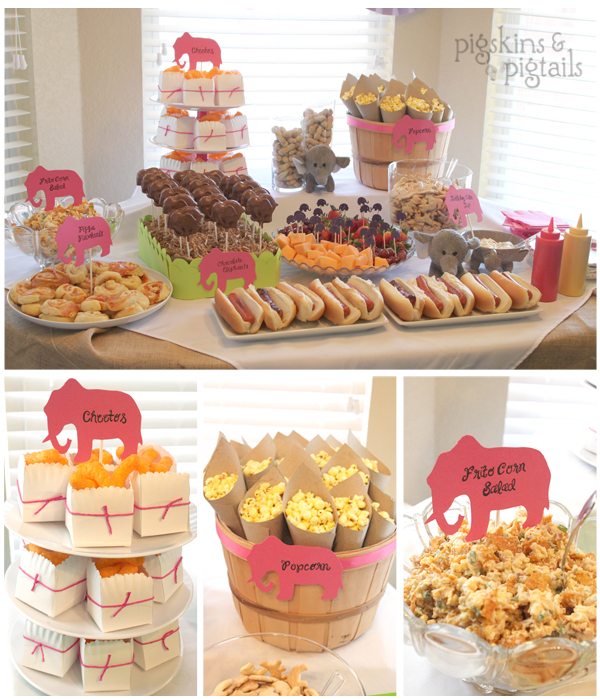 Boy Baby Shower Snack Ideas: Elephant Theme 3rd Birthday Party
