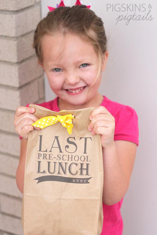 Last Preschool Lunch Ever + Printable