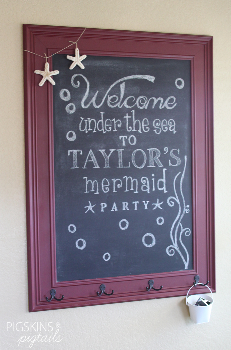 Mermaid Chalkboard