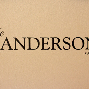 New Product: Personalized Wall Vinyl