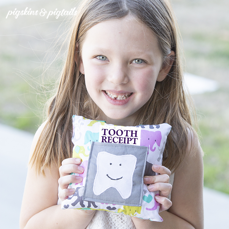 Tooth fairy visit pillow and receipt
