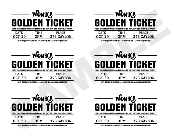 image about Printable Golden Tickets named Charlie and the Chocolate Manufacturing facility Golden Ticket Wrapper
