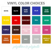 vinyl-color-choices