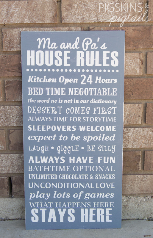 Grandparent Wooden Sign