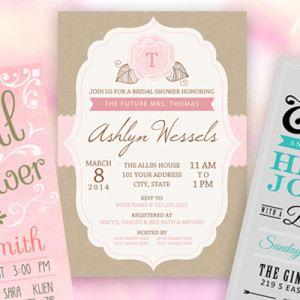 3 Pretty Bridal Shower Invitations