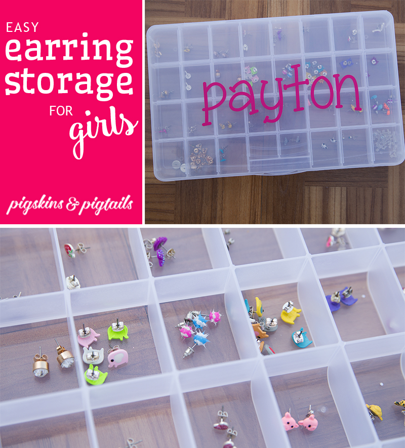 Easy Earring Storage for Girls Pigskins Pigtails