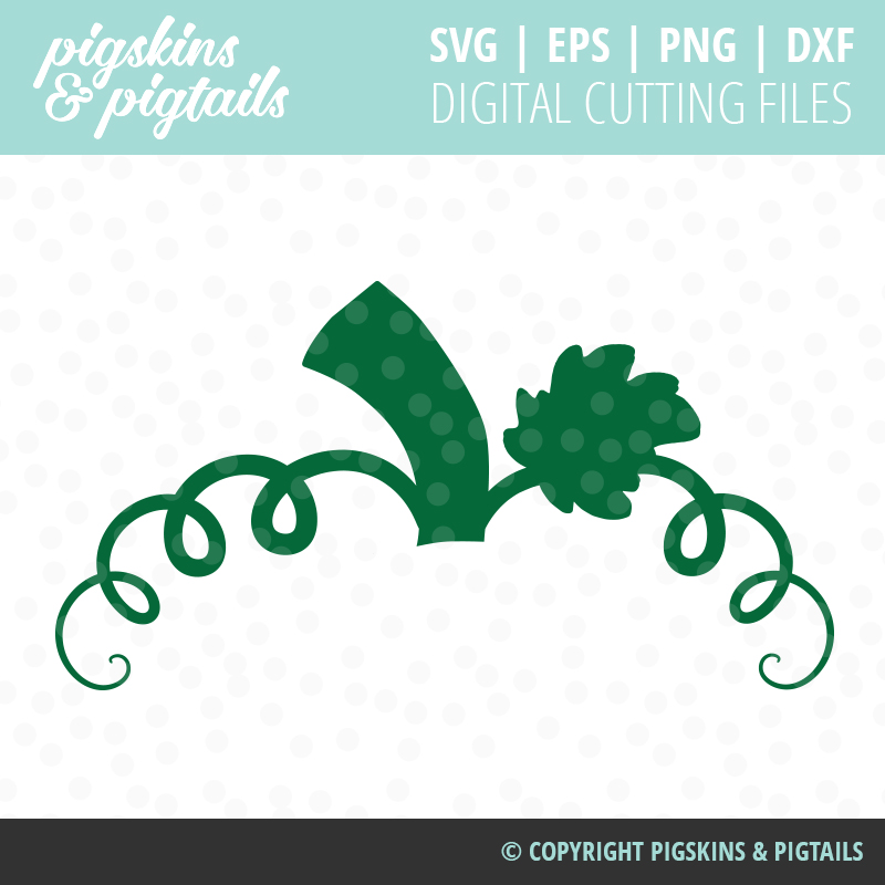 Pumpkin Monogram Cute SVG Digital File