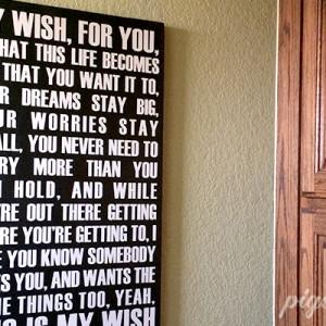 My Wish Wood Sign