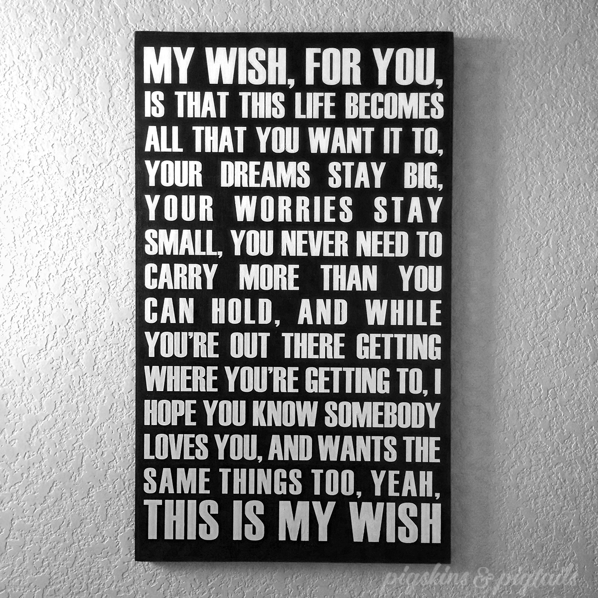 My Wish wooden sign