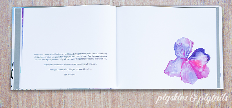 Adoption Profile Book Design Example