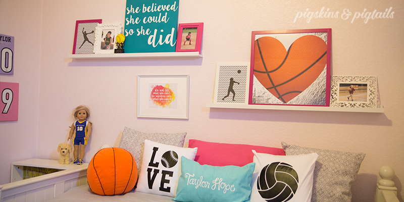Sporty Girl S Room Makeover Pigskins Amp Pigtails