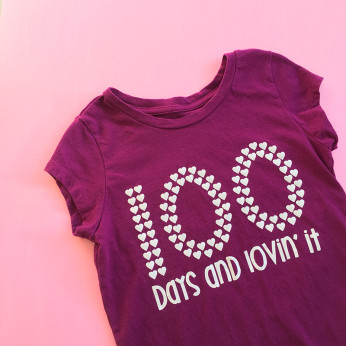 100 days and lovin' it school shirt