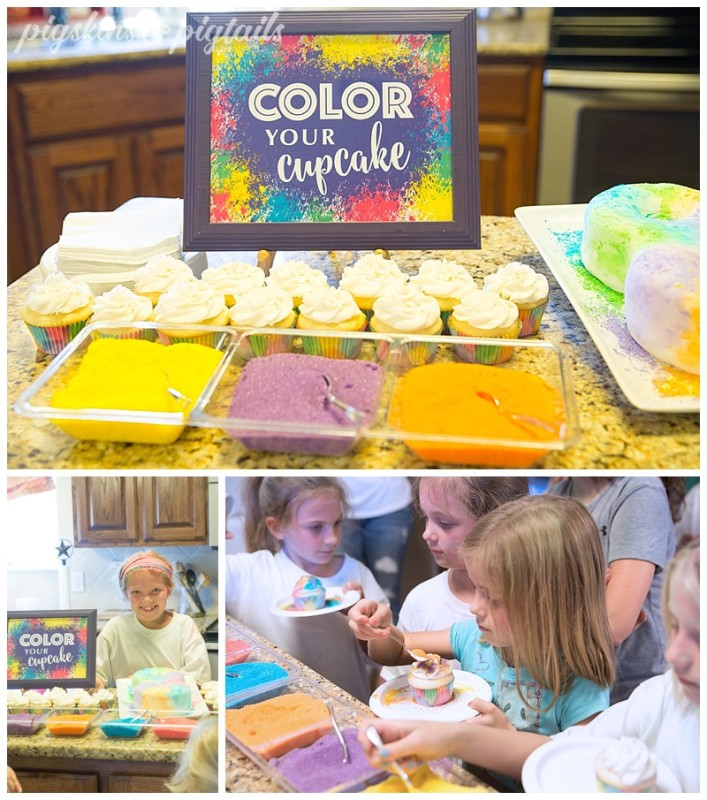 Color Run Party Cupcakes Cake