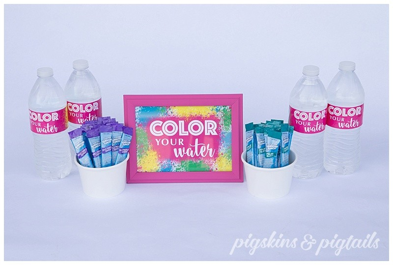Color Run Water