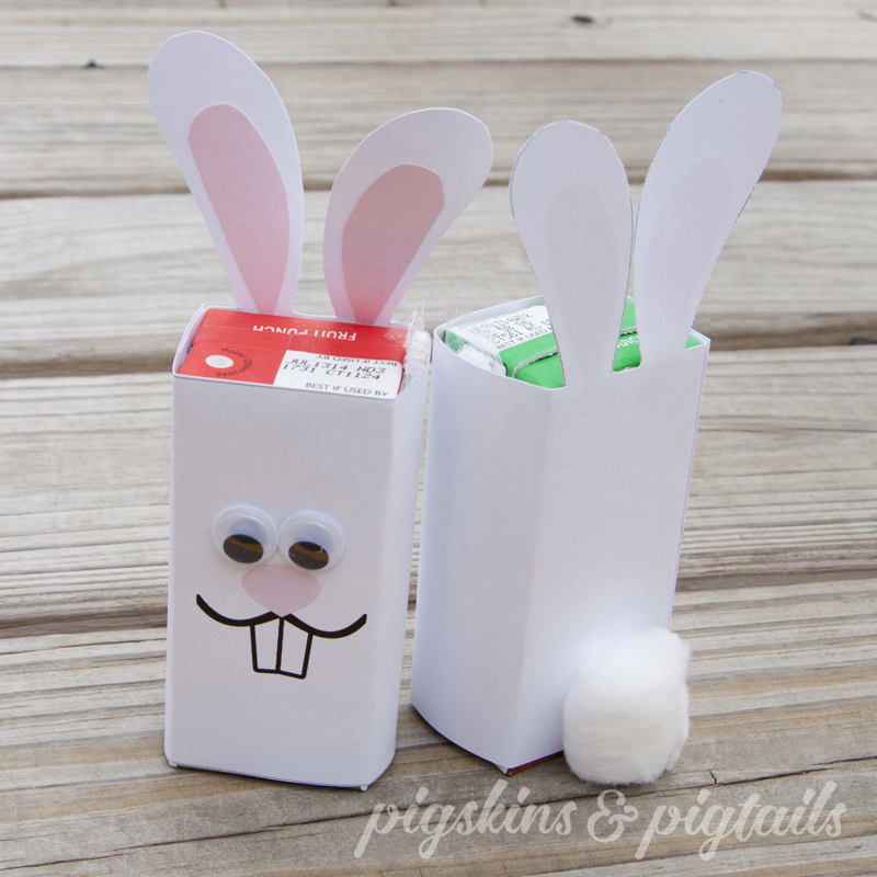 Easter Bunny Juice Wrapper DIY