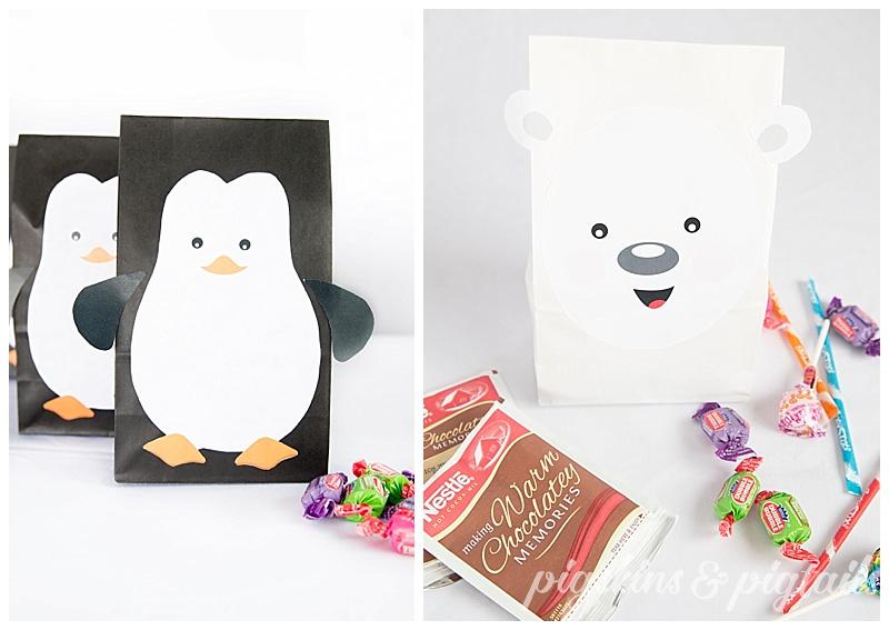 Printable Favor Bag Designs Pigskins Amp Pigtails