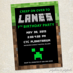minecraft-invitation-sample