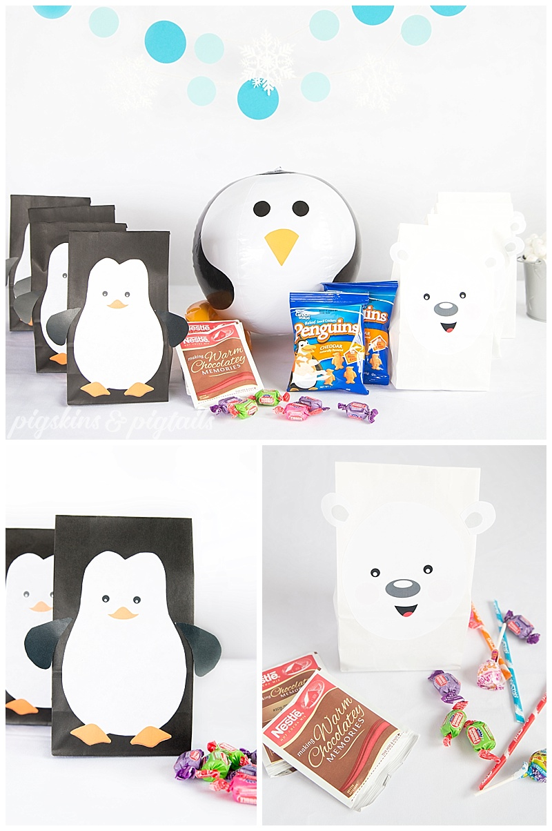 Penguin Polar Bear Birthday Party Theme Favors