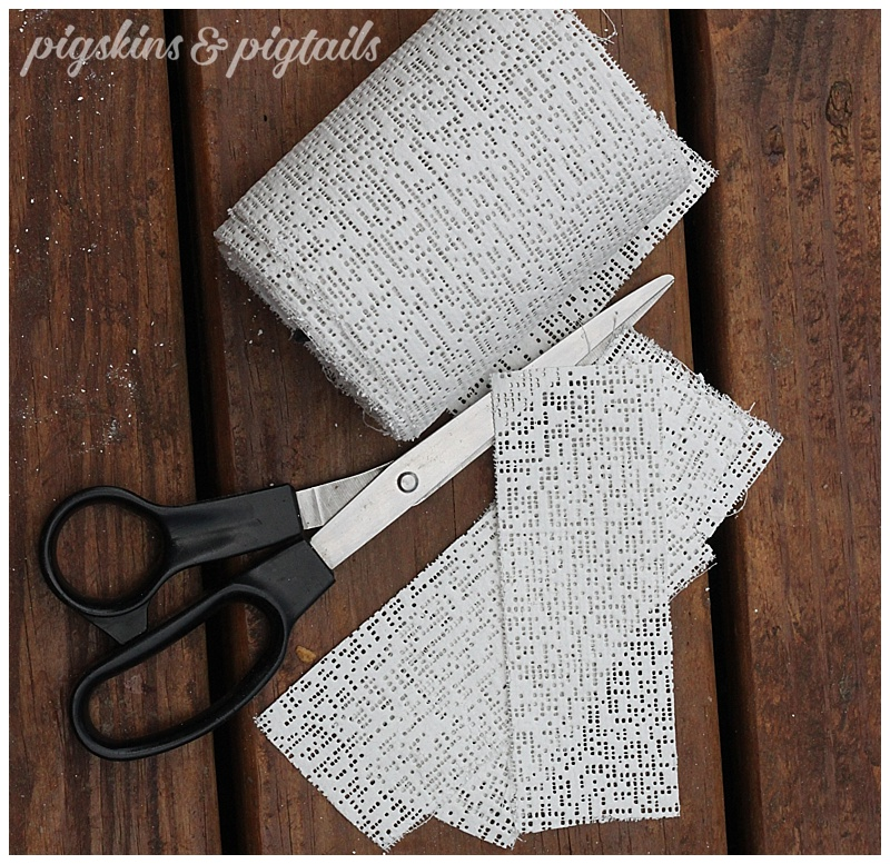Plaster cloth wrap for mask making