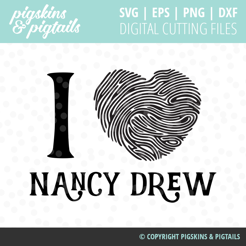 Nancy Drew and Clue Crew Shirt SVG Digital Design