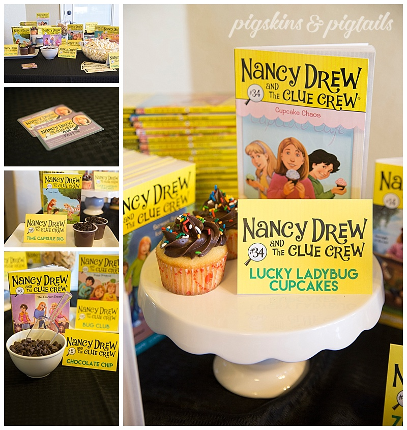 Nancy Drew book party foods