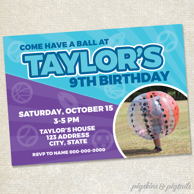 Knockerball Birthday Invitation Sporty Girl